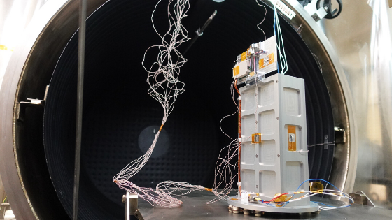 Qualification model of PICOBUS deployer just out of the Thermal-Vacuum chamber