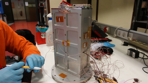 Qualification model of PICOBUS deployer getting ready for Thermal-Vacuum testing