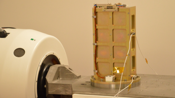 Flight model of PICOBUS deployer during vibration testing
